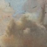 """""""O instante interminável"""", vídeo looping, vídeo feito a partir de imagens de explosões publicadas em jornais entre os anos de 2008 a 2015, da exposição individual """"O instante interminável"""", Galeria Jaqueline Martins, São Pailo, SP, 2015"""