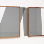 """""""Projeção de Área Comum"""", 2012, moldura de madeira, vidro e pintura na parede, 100x170x5 cm"""