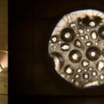Sem título, 2008, alumínio, lentes, mecanismos elétricos, água, acrílico, dimensões variáveis (detalhe)