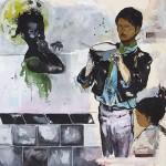 """Da série """"Américas"""", 2013, acrílico sobre tela 195x185 cm, coleção do artista, foto de Pepe Schettino"""