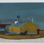 """""""Azulão"""", 2011, óleo sobre tela, 50x60cm"""