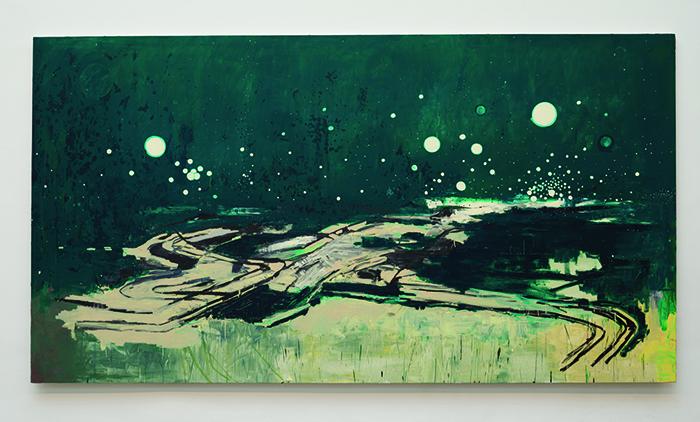 """""""Araraquara"""", 2014, óleo sobre tela, 210x390 cm, foto de Eduardo Ortega, coleção particular, Nova York, EUA"""