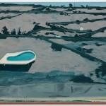 """""""Malha viária com piscina"""", 2010, óleo sobre tela, 180x250 cm"""