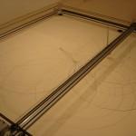 """""""Nefelibata - Inhabitant of the Clouds"""", 2007, sistema mecatrônico para medir o vento, caneta esferográfica e papel, 190 x 190 cm"""