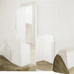 """""""Parte de"""", 2009, Fotocolagem a partir do espaço vazio de uma galeria, 52x71 cm (aproximadamente)"""