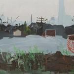 """""""Pelada  Caipira"""", 2011, óleo sobre tela, 210x330 cm"""