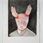 """""""Chifrinho"""", 2014, aquarela, 44 × 34 cm"""