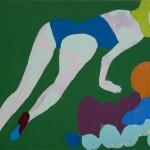 Tigresa, 2011. Óleo sobre tela, 110 x 140 cm.