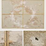 "Sem título #7 (""Soma neutra""), 2009, desenho sobre drywall, 250 x 370 cm"