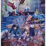 """""""O Triunfo da morte sobre o curral cleptocrata"""", 2011, óleo sobre tela,  260x180 cm"""