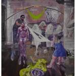 """""""O Fantasma na Máquina, após Descartes, Ryle e Shirow"""", 2011, óleo sobre tela, 200x180 cm"""