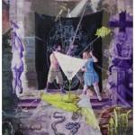 """""""Herético, ou o Rebis e o Martelo"""", 2011, óleo sobre tela,  260x180 cm"""