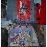 """""""Artemisia Gentileschi ou Ogum toma o poder das mulheres"""", 2010, óleo sobre tela, 200x180 cm"""
