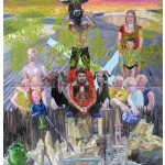 """Ouroboros do sebastianismo albino"", 2012, óleo sobre tela, 260x180 cm"