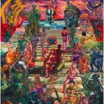 """""""A Rébis Mestiça Coroa a Escadaria dos Mártires Indigentes"""", 2013, óleo sobre tela, 390x360 cm"""