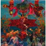 """""""O Corte Azimutal do Mundo e o Nascimento da Vênus Escrava Sob os Prantos das Donas do Atlântico"""", 2013, óleo sobre tela, 520x360 cm"""