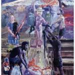 """""""A sodomia da brancura na capelinha do coronel"""",  2011,  óleo sobre tela, 200x140 cm"""