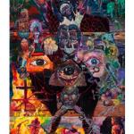 """""""A Torre, ou A Hora do Galo Impede o Olho por Olho"""", 2013, óleo sobre tela, 390x180 cm"""