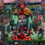 """""""O Suplício do Bastardo da Brancura"""", 2013, óleo sobre tela, 360x390 cm"""