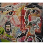 """""""Tricéfalo em catarse"""", 2010, óleo sobre tela, 160x200 cm"""