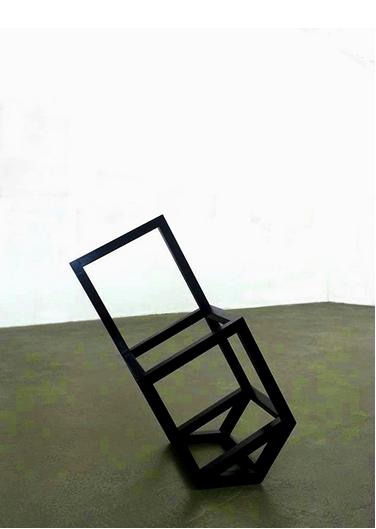 """""""Ocaso Cadeira Casa"""", 2013, madeira, pigmento e cera, 99,5x42,4x79 cm"""