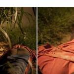"""""""Lago Indigente"""", 2008, instalação composta de um corpo em açúcar fundido (sólido) e vídeo projeção de um lago paradisíaco, 18', loop"""