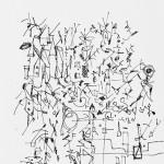 """""""Memo 01 v(ar)iações"""", 2009, caneta e papel"""