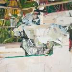 """""""Jardim"""", nº2, 2011, acrílica e óleo, 178x185 cm, foto de Mário Grisolli"""