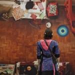 """Vista da exposição """"m²"""", no CCSP em 2011."""