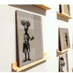 """""""Venda - Jogo da Memória Falha"""", silkscreen sobre plywood, ambos os lados, dimensões variadas, 2013. Foto de Sérgio Araújo."""