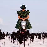 """Os Jardins Pensus da América"", 2012, registro fotográfico de performance, 100x150 cm"