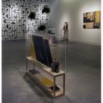 """""""Lembrança de Brasília"""", série de silkscreens em plywood, wall painting e dois vídeos, 2012."""