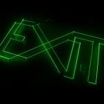 Exit | 2009 | Instalação - módulo de laser verde, espelhos e máquina de fumaça