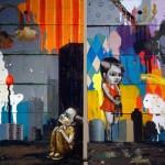 """""""Irmão"""" e """"Irmã"""", 2009, óleo sobre madeira, díptico, 40x70 cm"""