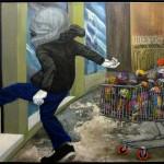 """""""Chute contra o sistema"""", 2011, óleo sobre linho, 80x120 cm"""