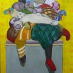 """""""Anjinhos não morrem"""", 2011, óleo sobre tela, 120x90 cm"""