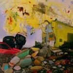 """""""Fora do nosso controle"""", 2011, óleo sobre tela, 200x150 cm"""