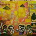 """""""Os inconfidentes"""", 2008, colagem e tinta spray sobre compensado de madeira, 220 x 320 cm"""