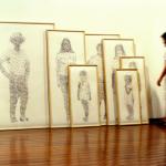 """""""Acúmulo"""", 2011, carimbo datador sobre papel algodão, dimensões variáveis"""