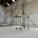 """""""Travessias"""" (vista da exposição), (2011)"""