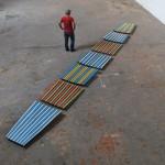 """""""Terceira Margem"""", 2013, estruturas de embarcação, dimensão variável"""