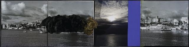 """""""Barroco Bahia"""", 2012, livros, fibra de vidro e fotografia, 33x110 cm"""