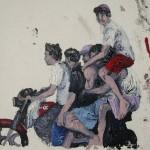 """Carona"", 2011, óleo sobre tela, 20x20 cm"