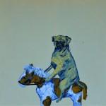 """""""O Cavalo do Cão #2"""", 2013, óleo sobre tela, 110x110x4 cm"""