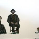 """""""Amor Eterno"""" (detalhe), Exposição """"O Descuido, Vira-latas, Fuleragem e Bundas"""", 2011, Galeria do Espaço Piloto – UnB, curadoria aberta: Bia Medeiros e Moisés Crivelaro"""