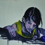 """""""Cuspi, Guspi ou Cuspe? #2"""", 2012, óleo sobre tela, 100x80 cm"""