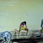 """""""Dialogismo"""", 2013, óleo sobre tela, 130x10x4 cm"""
