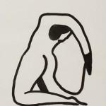 """""""Nu imaginário 01"""", 2013, 59x41,8 cm, nanquim sobre papel"""