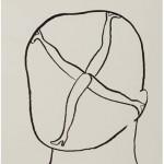"""""""Cabeça com mulher 02"""", 2013, 59x41,8 cm, nanquim sobre papel"""