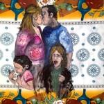 """""""O Beijo"""", 2012, óleo sobre tela, 100x140 cm"""